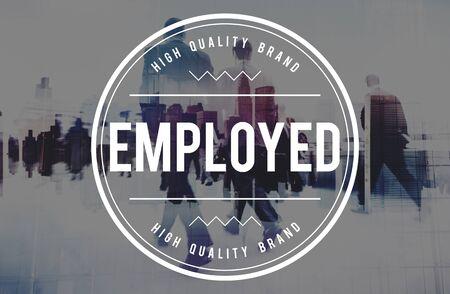 employed: Employed Employee Employer Employment Hiring Concept Stock Photo