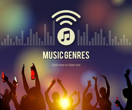 genres: Music Genres Style Design Eletronic Jazz Rock Concept