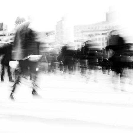 rushing: Woman rushing in a city.