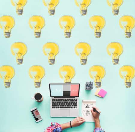 illumination: Bulb Electricity Illumination Idea Lighting Concept