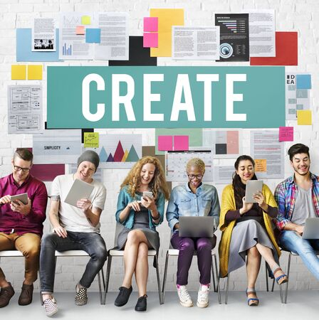 innovating: Creative Create Inspiration Invention Ideas Style Concept Stock Photo