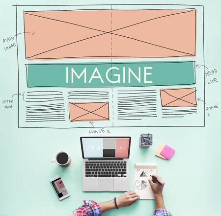 envision: Imagine Imagination Creative Dream Thinking Concept