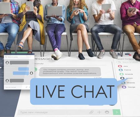 Live-chatting Digital Web Concept Stockfoto