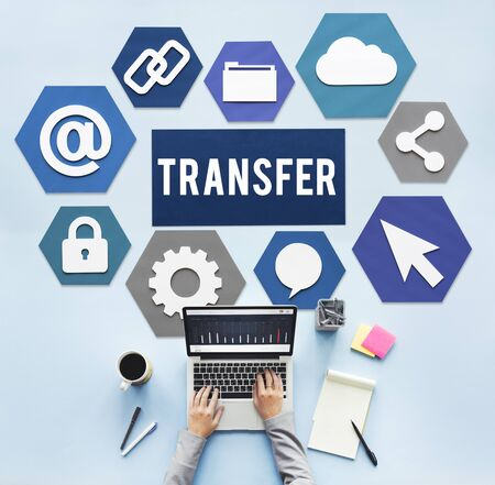 electronic banking: Transfer Electronic Banking Payment Online Concept