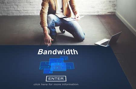 internet  broadband: Bandwidth Broadband Connection Data Information Internet Concept
