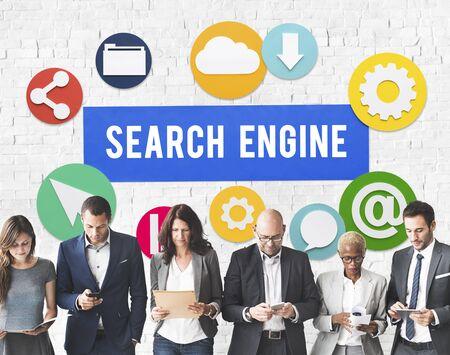 optimization: Seo Search Engine Optimization Searching Concept Stock Photo