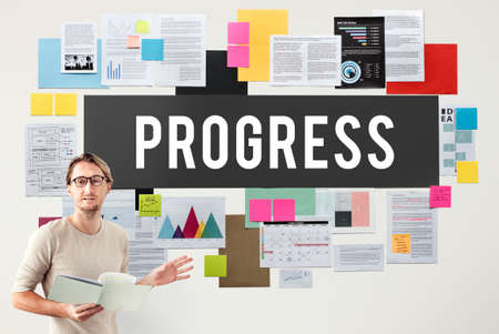 better: Progress Better Development Growth Innovation Concept Stock Photo