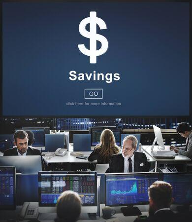 account executive: Savings Banking Assets Money Budget Economy Concept Stock Photo