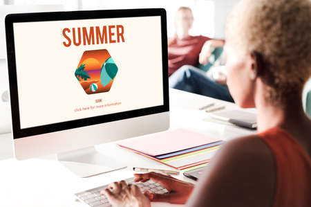 lets: Summer Time Lets Travel Holiday Concept