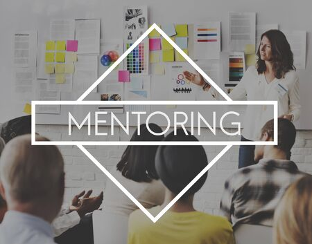 guiding: Mentoring Coaching Guiding Helping Teaching Concept