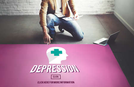 downturn: Depression Downturn Decline Recession Sadness Concept Stock Photo