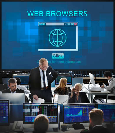 browsers: Web Browsers Online Technology Digital Connect Concept Stock Photo
