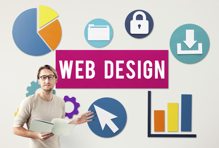 Wed design concept beside a presenter Stok Fotoğraf