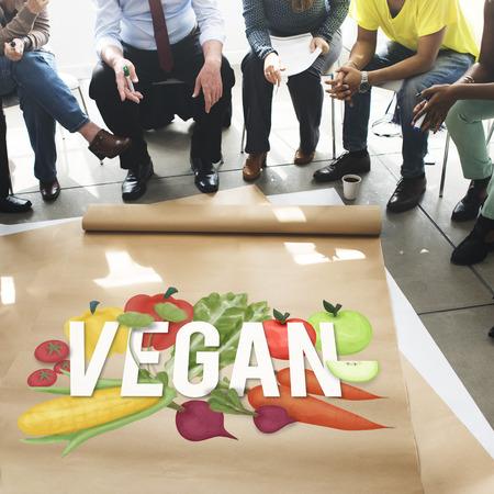 Veganist Gezond het Eten Voedsel Plantaardig Vegetarisch Concept