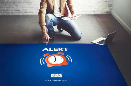 career timing: Time Alarm Deadline Countdown Concept Stock Photo
