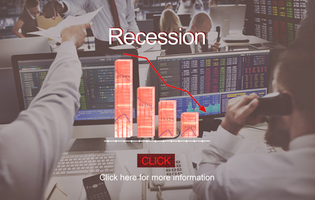 hectic: Problems Risk Deflation Depression Bankruptcy Concept