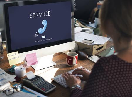 service desk: Support Service Information Help Desk Concept