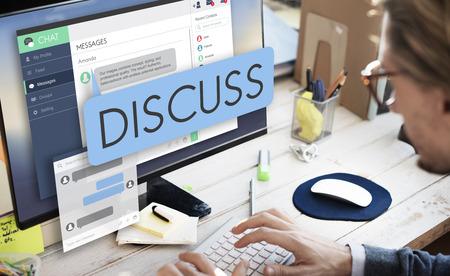 argument: Discuss Discussion Argument Communication Concept