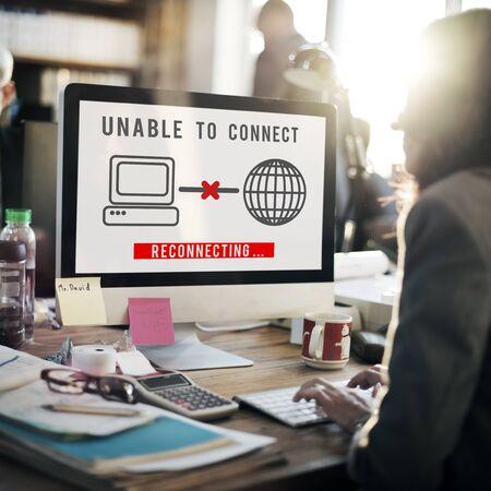 disconnect: Unable Connect Disconnect Error Failure Problem Concept