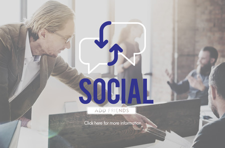 Social concept with people interact in background