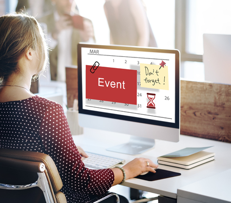 agenda browse: Event Schedule Occasion Planner Reminder Concept Stock Photo