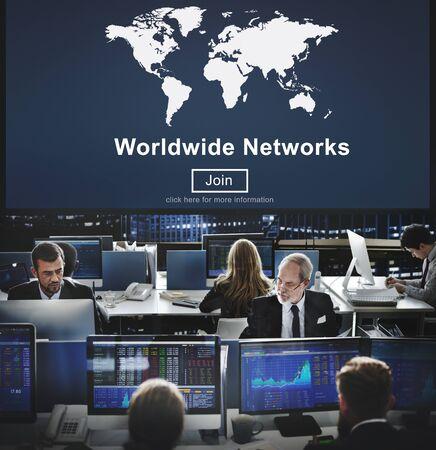 hectic: Worldwide Networks Global International Unity Concept Stock Photo