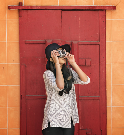 wander: Photographer Travel Sightseeing Wander Hobby Recreation Concept