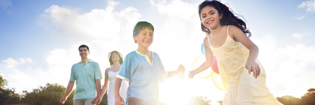 가족 결합 명랑 아동 양육 사랑 개념