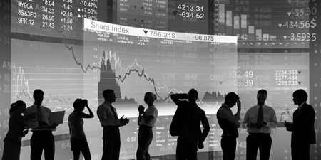 business people: Business People Investment Economy Financial Graph Concept Stock Photo