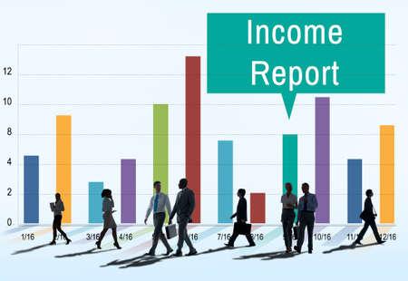 commuting: Financial Income Report Diagram Concept