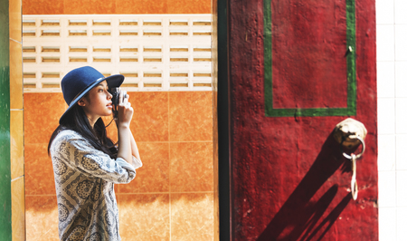 asian style: Photographer Travel Sightseeing Wander Hobby Recreation Concept
