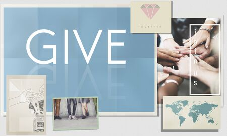cooperate: Give Donate Help Support Charity Please Concept