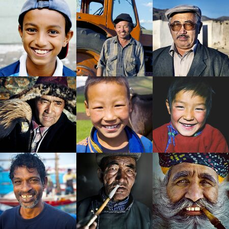 humanism: Ethinicity Diversity Humanism Variation Concept