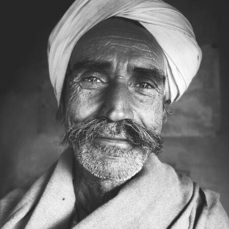 grumpy old man: Indigenous Senior Indian Man Character Asian Concept