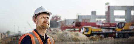 企画エンジニア建築家の工事現場 写真素材