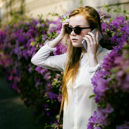 chilling: Summer Flower Sunglasses Casual Calm Chilling Concept Stock Photo