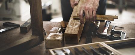 Carpenter Craftmanship Carpentry Handicraft Wooden Workshop Concept Archivio Fotografico
