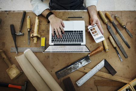 Craftsman Profession Occupation Pursuit Skilled Concept Stock Photo
