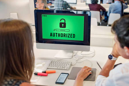 autoridad: La autorizaci�n de acceso, inaugurado Pass Autoridad Concept