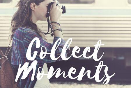 cobrar: Recoger Momentos Aventura Placer Explora Concept