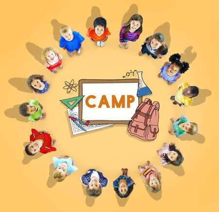 kids learning: Learn Kids Camp Student Education Concept