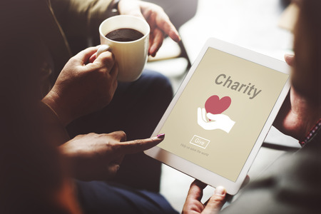 charity  symbol: Charity Volunteer Donate Hand Symbol Concept