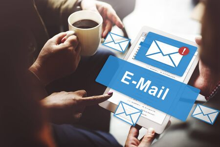 E-mail Inbox elektronische communicatie Graphics Concept Stockfoto