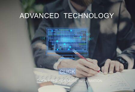 advanced computing: Advanced Technology Computing Networking Concept