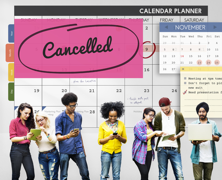 networking people: Cancelled Appointment Planner Ignore Concept