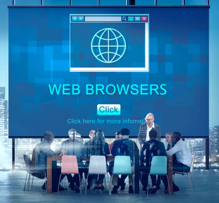 browsers: Web Browsers Global Page Site Interface Concept