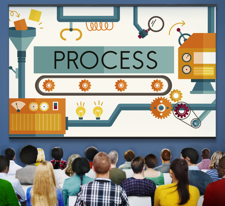 method: Process Method Production Operation System Concept Stock Photo