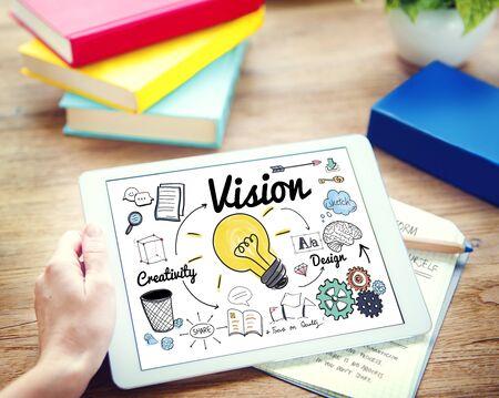smart goals: Vision Creative Ideas Design Concept