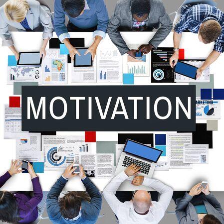 enthusiasm: Motivation Aspiration Enthusiasm Incentive Inspire Concept