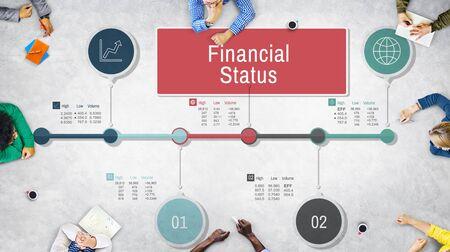 status: Financial Status Report Diagram Concept
